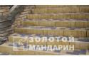 Поребрик квадратний Золотой Мандарин 8 см, гірчичний