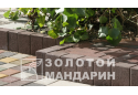 Поребрик квадратний Золотой Мандарин 8 см, сірий