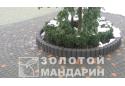Поребрик круглий Золотой Мандарин 8 см, червоний