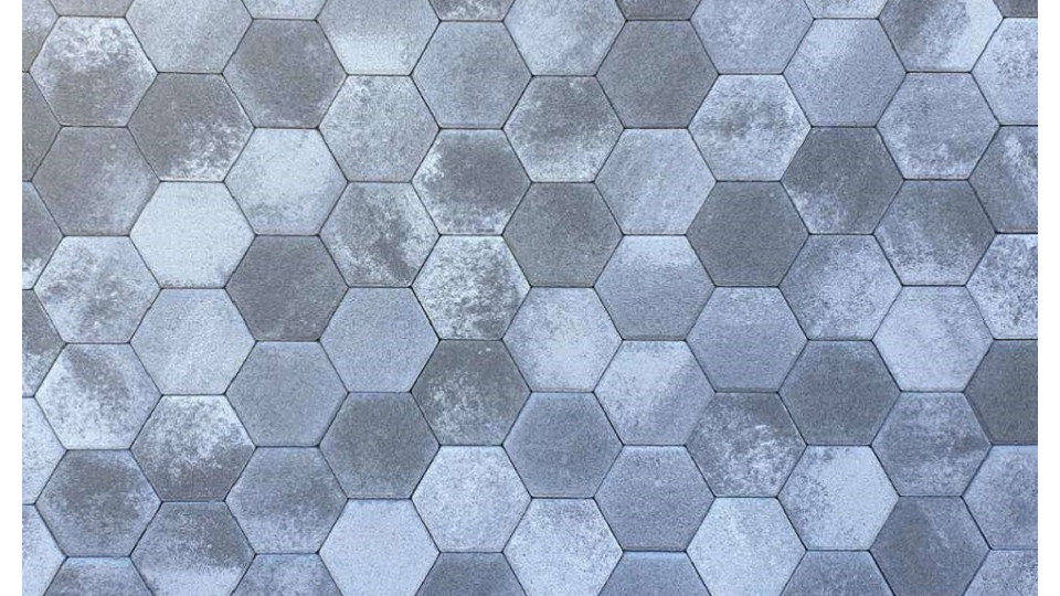 Тротуарна плитка Золотой Мандарин Сота 6 см, грейс