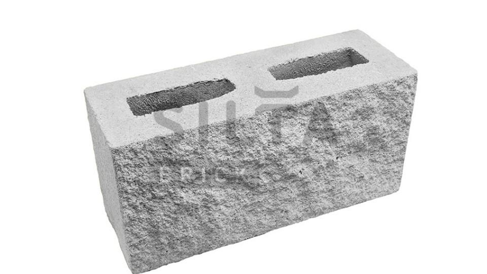 Заборний блок Сілта-Брік декоративний 390х190х140 мм білий