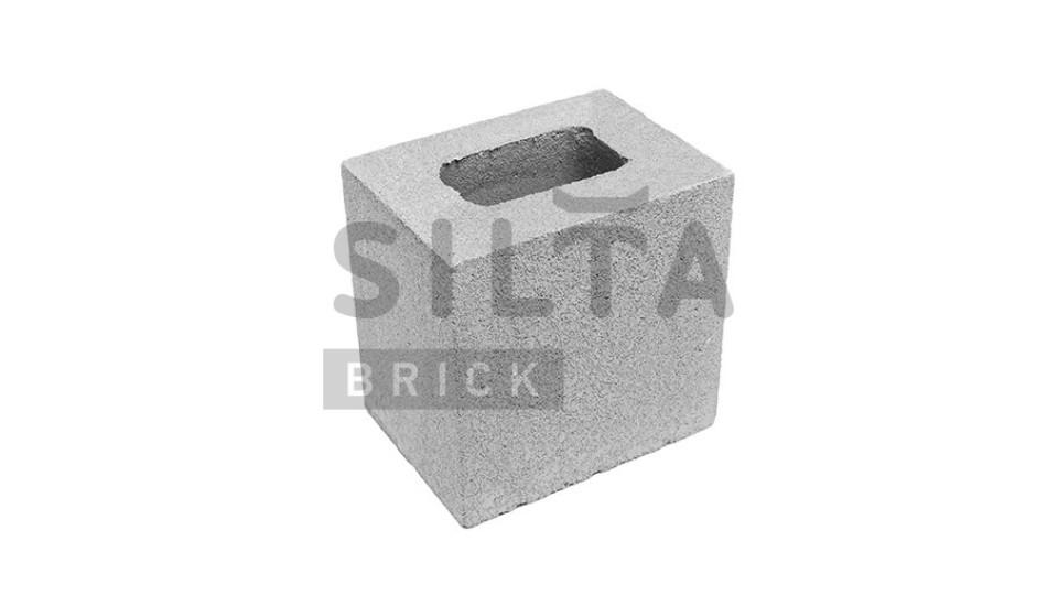 Заборний напівблок Сілта-Брік гладкий 190х190х140 мм білий