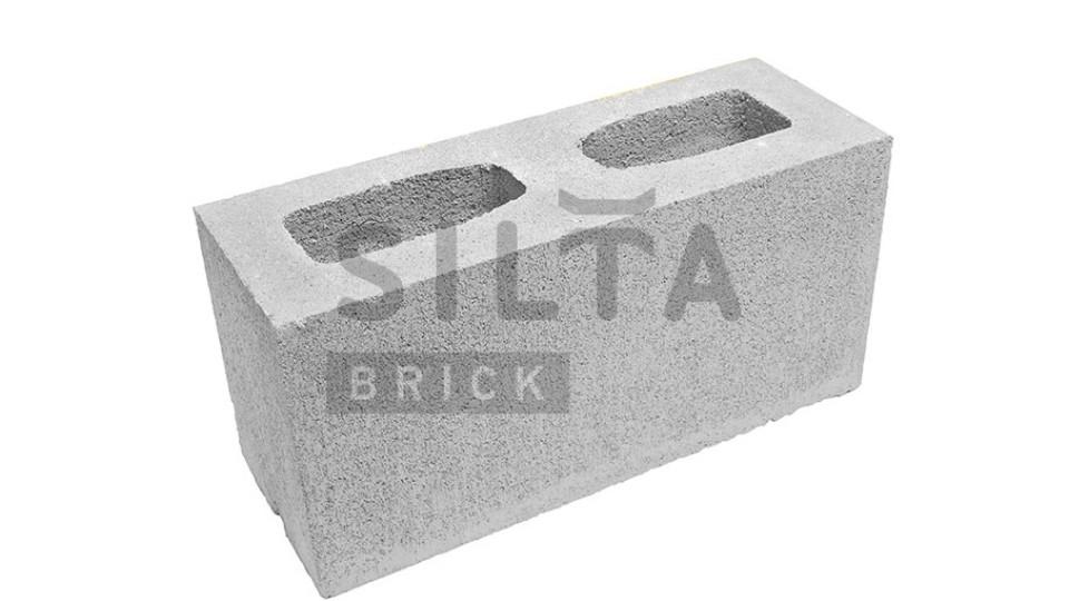 Заборний блок Сілта-Брік гладкий 390х190х140 мм білий