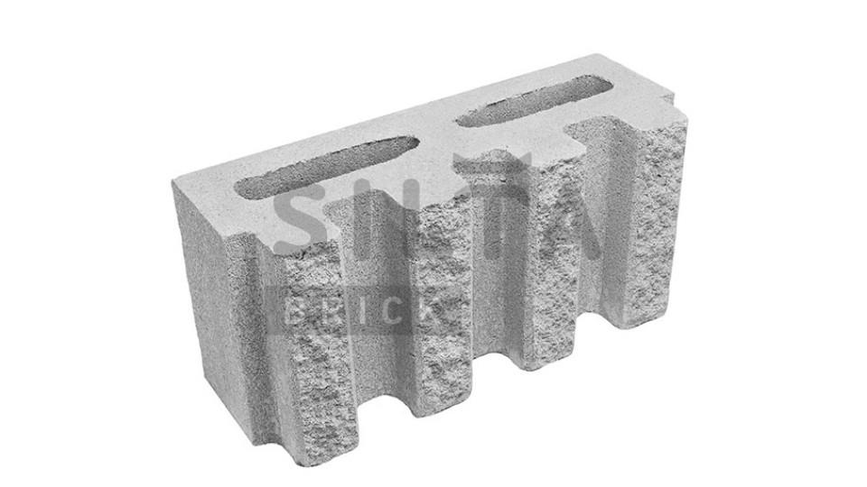 Заборний блок Сілта-Брік декоративний канелюрний 390х190х140 мм білий