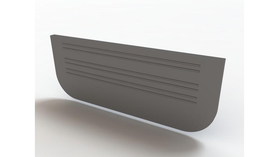 Заглушка Ecoteck для лотків пластикових 100.65 (чорна) 100 Standart