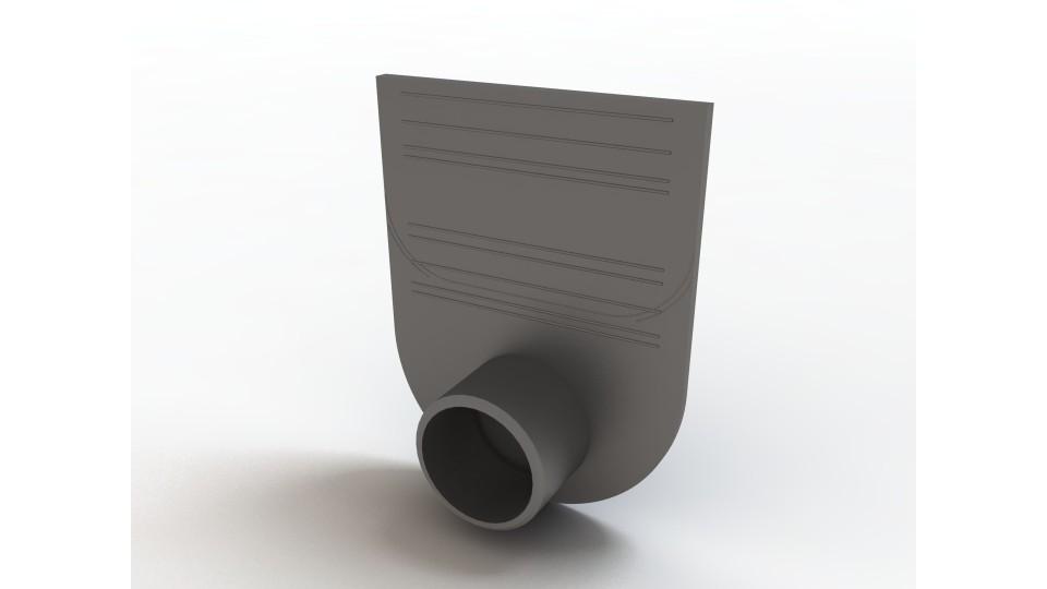 Заглушка-перехідник Ecoteck для лотків пластикових 100.125 і 100.175 (чорна) 100 Standart