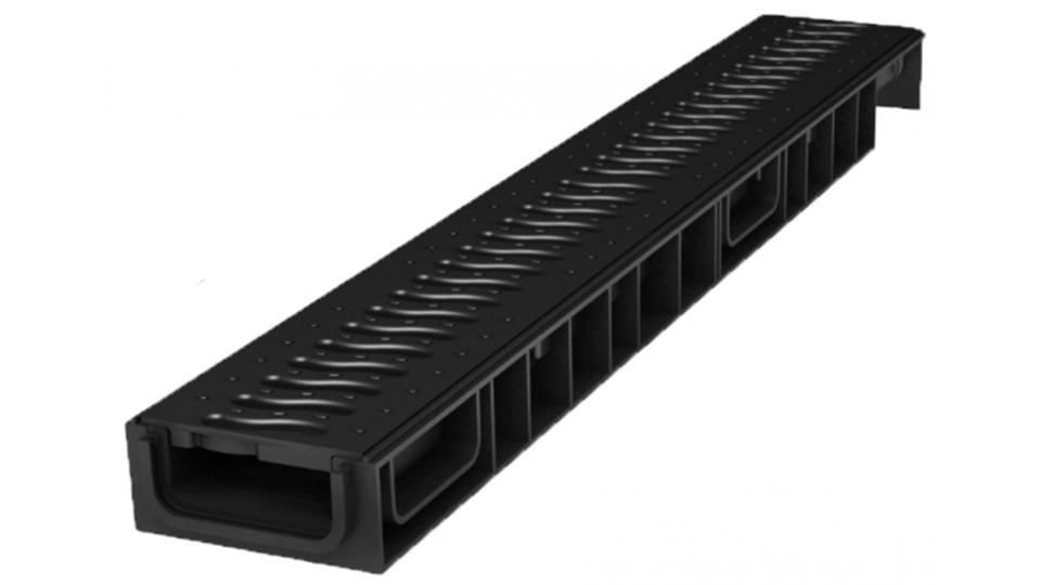 Решітка Ecoteck пластикова Хвиля (чорний) 100 Standart