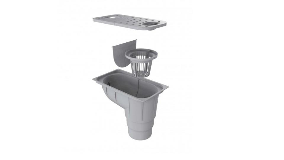 Вуличний трап Ecoteck сірий металік