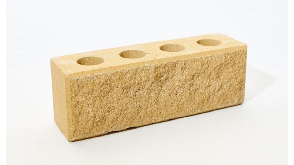 Цегла Літос Колота вузька з фаскою Жовта, евростандарт