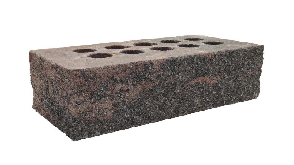 Цегла Літос Колота тичкова Гранада (червоно-чорний), стандарт