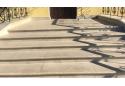 Сходина кутова Золотой Мандарин 380х380х70, ваніль