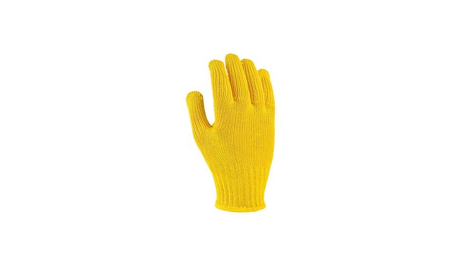 Рукавички трикотажні жовті Стандарт плюс ДОЛОНІ 4078