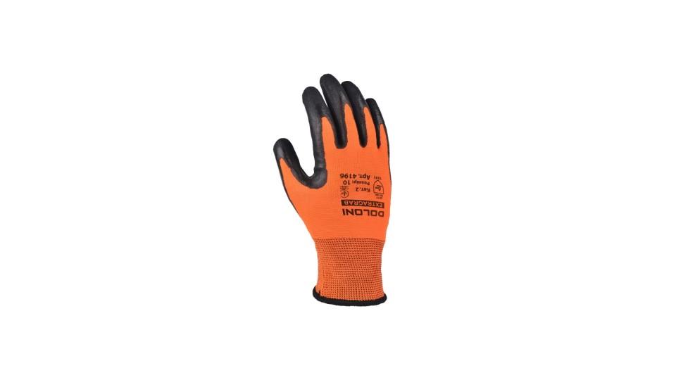 Рукавички трикотажні помаранчеві з латексним покриттям EXTRAGRAB ДОЛОНІ 4196