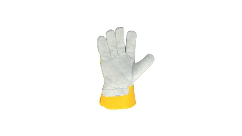 Рукавички комбіновані жовті D-POWER ДОЛОНІ 4574