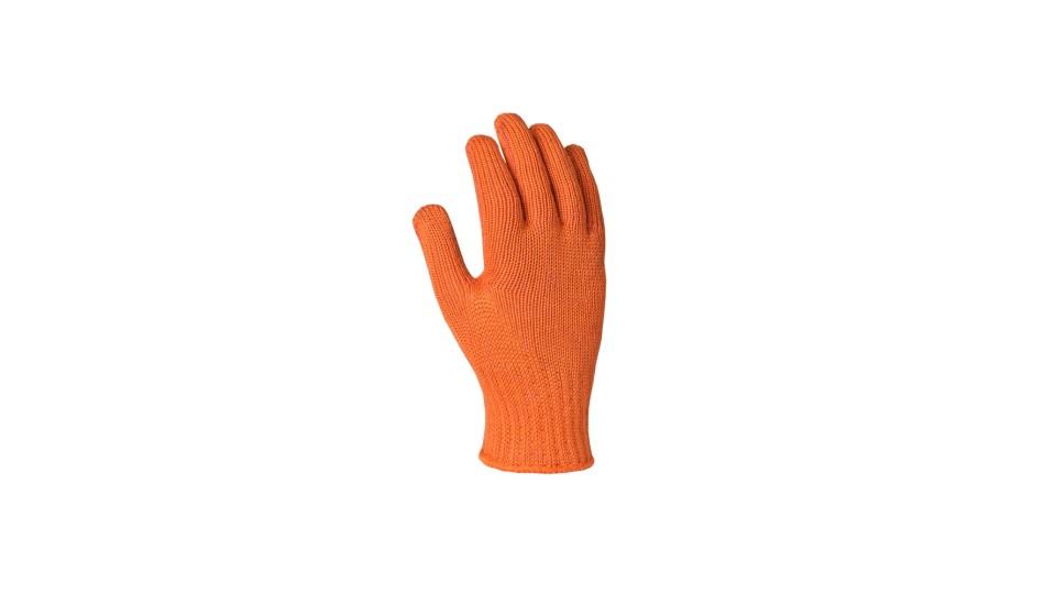 Рукавички трикотажні помаранчеві Зірка ДОЛОНІ 564